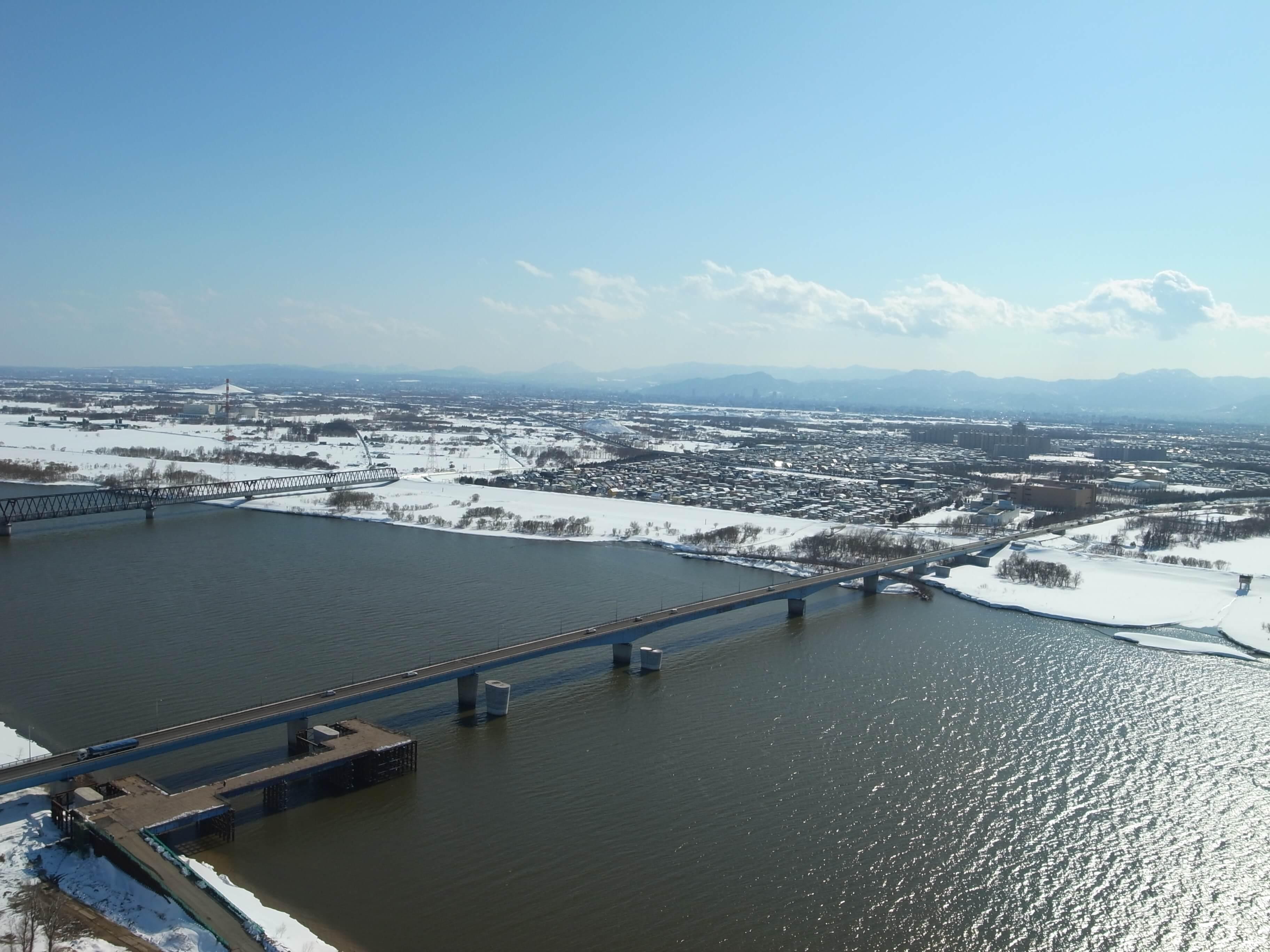 国道337号当別町札幌大橋仮桟橋...